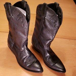Ladies Laredo Black Leather Cowboy Boots